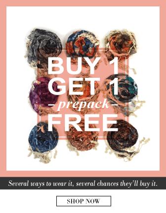 Buy 1 Get 1 Free Viscose Scarf Pre Pack